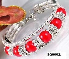 Pulseras de joyería de plata tibetana plata