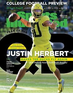 Justin Herbert Oregon Ducks 2019 Sports Illustrated cover Photo - select size