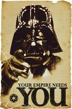 Star Wars Poster Darth Vader Your Empire Needs You + Powerstrips®