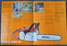 Stihl 032Av chainsaw advertising brochure