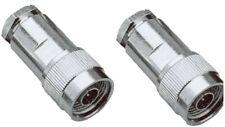 2 Stück N-Stecker - Lötversion - für 6mm Kabel - z.B. für RG-58 Koaxkabel