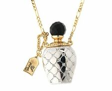 DISNEY Couture platinum-plated Crystal ALICE drink me BOTTIGLIA COLLANA