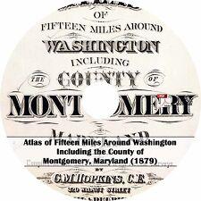 1879 Atlas of Washington & Montgomery County, Maryland - History Maps on Cd