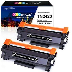 2 Toner Cartridge fits Brother TN2420 HL-L2350DW L2370DN L2310D DCP-L2510D