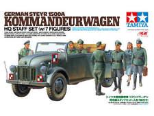 1:35 TAMIYA KIT GERMAN STEYR 1500A KOMMANDEURWAGEN STAFF SET CON 7 FIGURE 25149