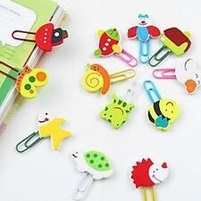 24pcs disney cartoon wooden note office paper clip School supplies study article