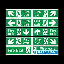 Fire Exit Sign, Sticker - All Sizes & Materials - Emergency, Escape, Fire Drill
