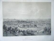 LITHOGRAPHIE 19è PARIS DANS SA SPLENDEUR PARIS EN 1620 VUE PRISE  BUTTE CHAUMONT