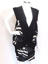 Limi Feu Black-White Tunic Dress Top Retail $765 Made in Japan