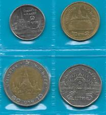 THAILAND CURRENCY COINS Set of 4 Different