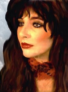 Kate Bush painting in acrylic on art board. Original by Brian Tones