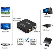 RCA to HDMI Converter Composite AV CVBS Video Adapter 720/1080p for Wii NES SNES