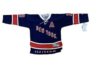 Reebok Youth Size S/M NHL NY Rangers Brad Richards Stitched Heritage Blue Jersey