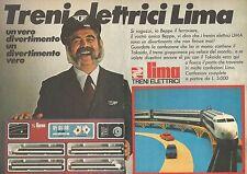 X0724 Treni elettrici LIMA - Pubblicità del 1976 - Vintage advertising