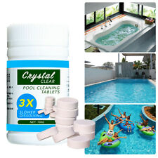 100PCS Pool Cleaning Tablet Swimming Pool Cleaner Multi Use Clean Tub Purifier