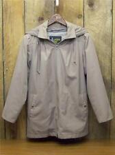 Women's London Fog Coat Zippered Thinsulate Liner Hood Sz. 8 Reg Beige Khaki Tan