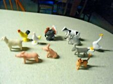 Lot Toy Animals Rubber Plastic Farm Yard 1 Deer and @ Whales