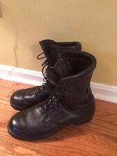 Military Boots Size 10.5 Wide Army Black Leather