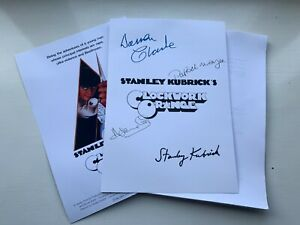 A Clockwork Orange Script/Screenplay With Poster And Autographs Signed Print