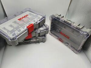 4 x Bosch Leerbox Leerkoffer Aufbewahrungsbox für Kleinteile / Nutfräser Kasette
