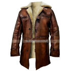 Tom Hardy Bane The Dark Knight Rises Real Shearling Real Leather Coat Jacket