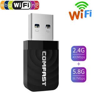 1300Mbps WiFi Dongle Adapter 802.11 b/g/n USB Wireless Card 5.8/2.4GHz Dual WiFi