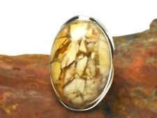 MOOKAITE  Sterling  Silver  925  Gemstone  RING  -  Size: 7.5