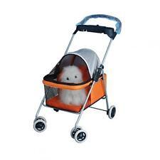 New BestPet Cute Orange Posh Pet Stroller Dogs Cats w/Cup Holder