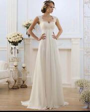 New Lace White/Ivory Wedding Dress Bridal Gown Uk Size 6-18