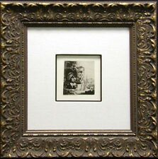 """Rembrandt """"Christ and the Woman of Samaria"""" custom Framed & COA MAKE AN OFFER"""