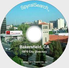 CA - Bakersfield 1975 City Directory on CD