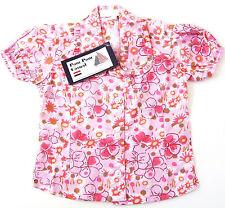 KA Bluse Gr.86 Pom Pom NEU 100% Baumwolle rosa Rüschen Blumen baby sommer