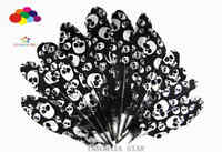 New 100pcs black Beautiful Silver skull Goose Feather 15-20cm/6-8 inches
