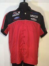 Motorsports Mens Large Authentic Molecule Racing Shirt Short Sleeve ButtonUp 141