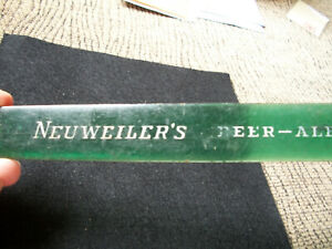VINTAGE 1930S-40S NEUWEILER'S BEER-ALE FOAM SCRAPER ALLENTOWN, PA. HAS BUBBLES