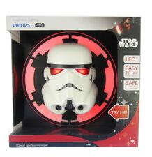 Philips Star Wars Stormtrooper 3D LED Wall Light 3AA Batteries Included, BNIB