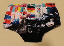 Speedo Endurance Boys Moto El Mundo Retro Printed Trunk Bathers Size 8 New