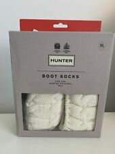 New HUNTER Wellington Socks for the Original Tall Boot - Natural Cable Knit   XL