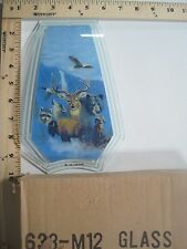 Free Us Ship Ok Touch Lamp Replacement Glass Panel Deer Eagle Animals 638-M12