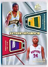 2007-08 SP Game Used Rashard Lewis Morris Peterson Fabrics Dual Patch #AFDLP /50