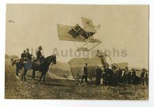 Louis Breguet 1909 Vintage Photo Accident at Grande Semaine d'Aviation at Reims