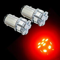 2x 1157 2057 Bay15d 13SMD Dual Filemen 5050LED Scooter Auto Rear Brake Light RED