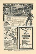 1908 Grand Trunk Railways Ad Hotel Wawa Lake of Bays Ontario Canada Travel