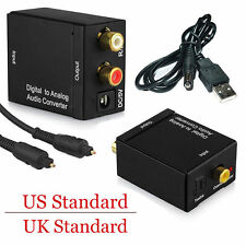 Analog L/R to Digital SPDIF Coaxial Coax RCA & Optical Toslink Audio Converter F