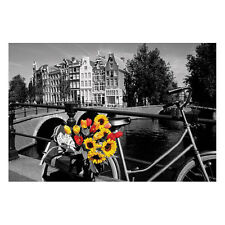 Amsterdam - Flowers POSTER 61x91cm NEW *Netherlands City Canal Travel Bicycle