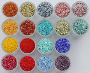 Czech Glass Seed Beads 11/0 10g. Rocaille,Preciosa,EACH ADD. ITEM is Free post.