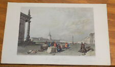 1836 Antique COLOR Print///THE ADMIRALTY SQUARE, ST PETERSBURG, RUSSIA
