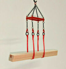 Crane Lifting Frame Set w/Straps In Authentic Mammoet Red. 1/87th