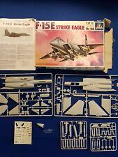Vintage ITALERI 1/72 F-15E STRIKE EAGLE PLASTIC MODEL KIT Complete