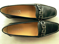 Geox Halbschuh Damen Slipper feste Schuhe Gr. DE 37.5 - schwarz